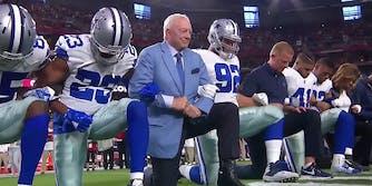 Dallas Cowboys kneel before National Anthem