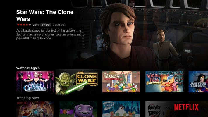 apps for apple tv : Netflix Clone Wars
