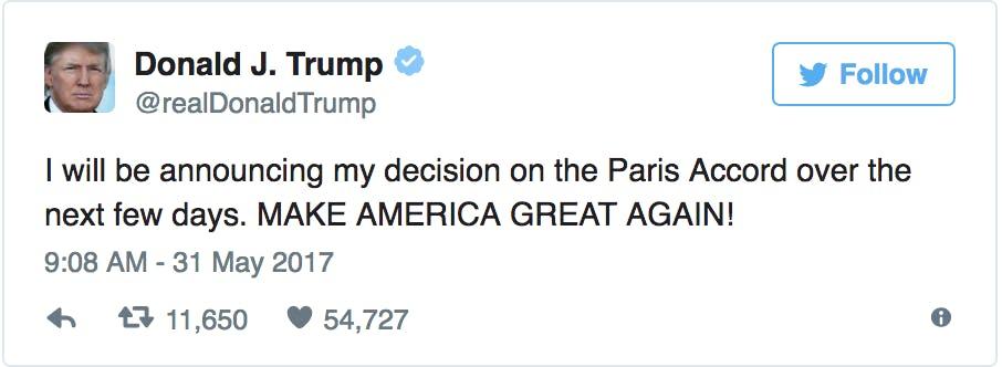 Trump Paris Climate Accord