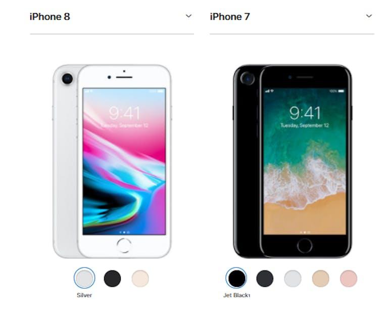 iphone 8 vs iphone 8 apple smartphone comparison
