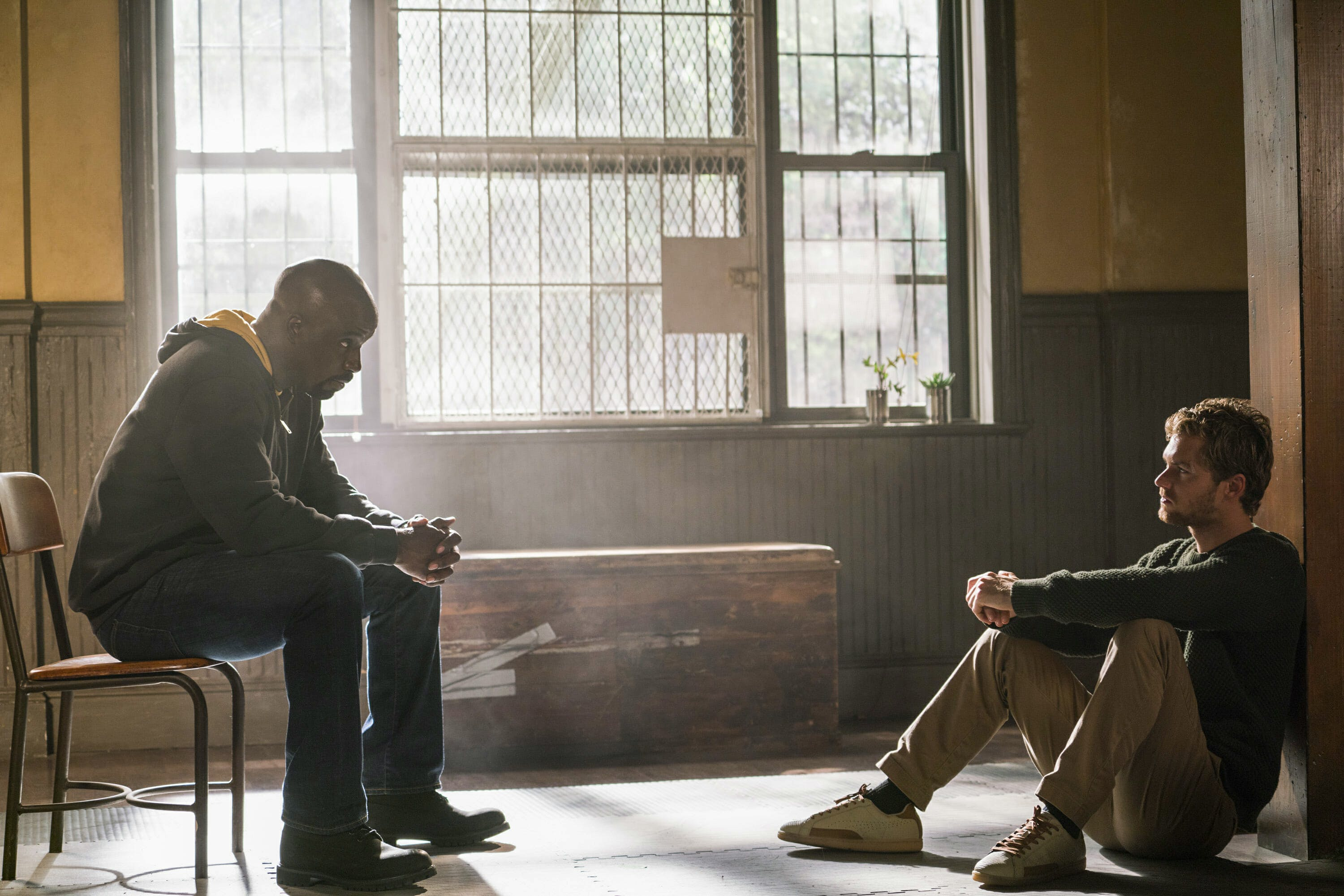 iron fist season 2 will likely feature luke cage and danny, shown here in the defenders