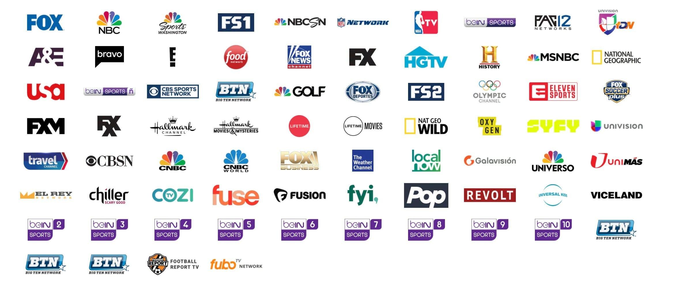 live tv streaming : fubotv channels