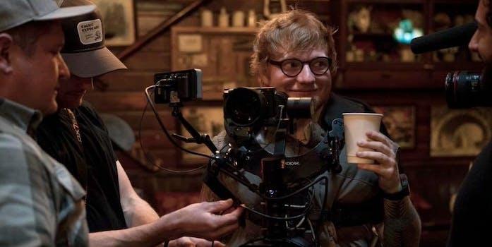 ed sheeran galway girl: picture of ed sheeran filming video for galway girl