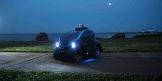 OTSAW Robotics O-R3 mini vehicle at night