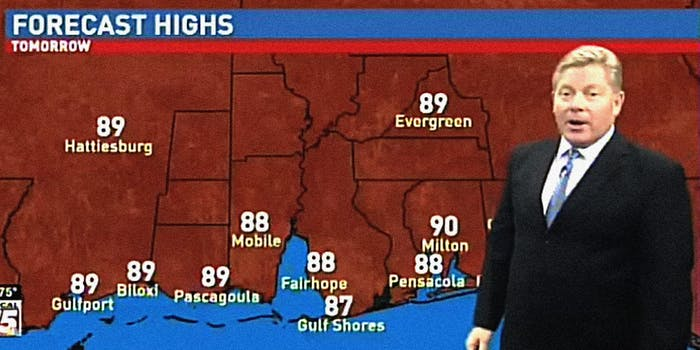 Chris Dunn gives weather forecast weatherman farts