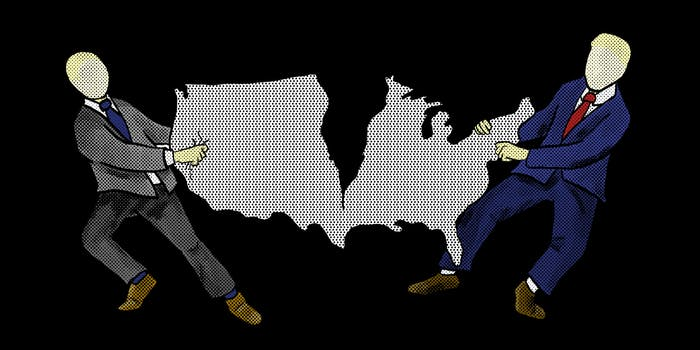 What is gerrymandering: Two politicians ripping the shape of the United States apart