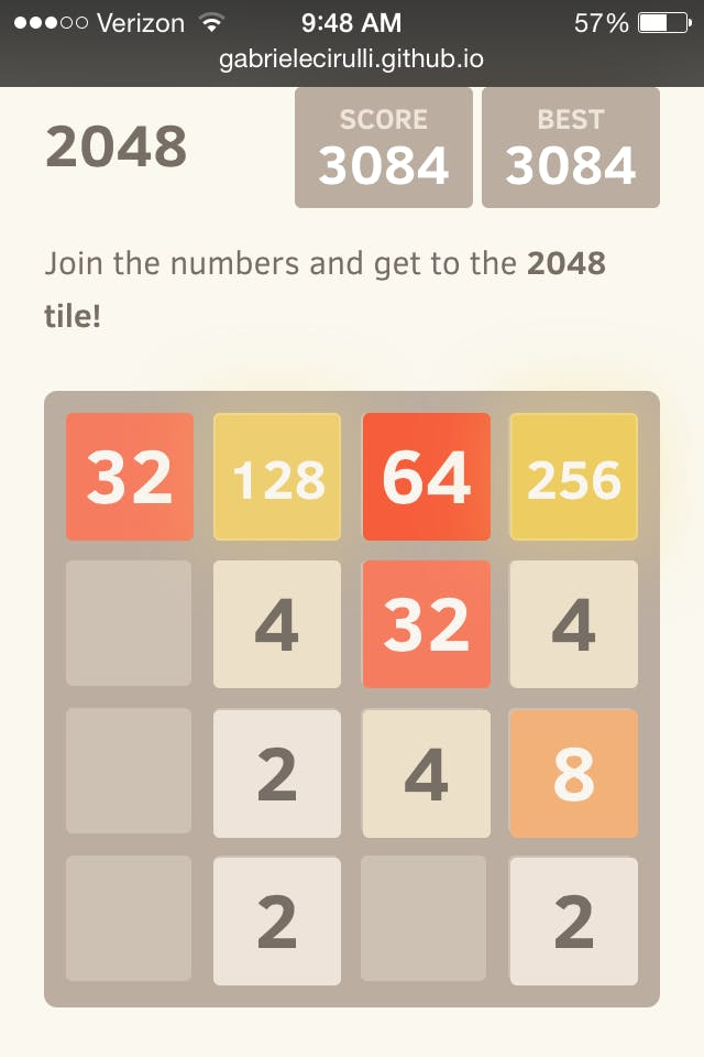 how to win 2048