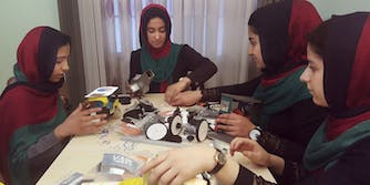 all girls team afghanistan robotics team FIRST competition
