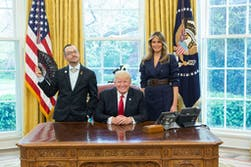 Nikos Giannopoulos alongside President Trump