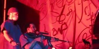 Marilyn Manson San Bernardino fake gun