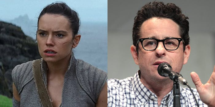 Rey from Star Wars and JJ Abrams