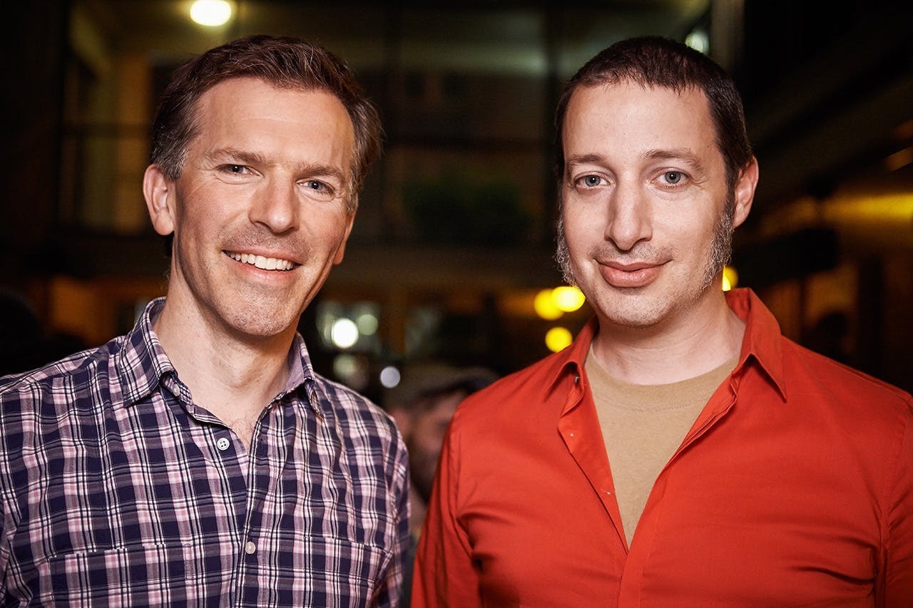 Subterfuge creators Noel Llopis (left) and Ron Carmel (right).