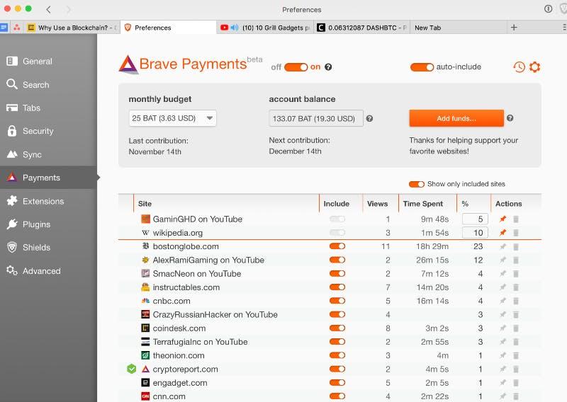 Brave web browser wallet
