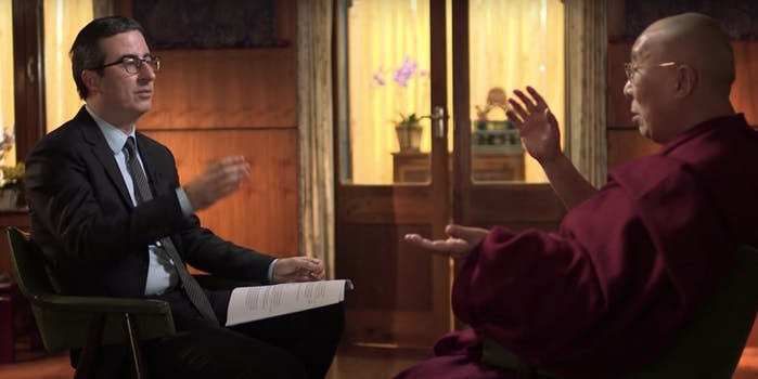 john oliver dalai llama interview
