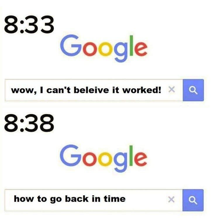 time travel google meme
