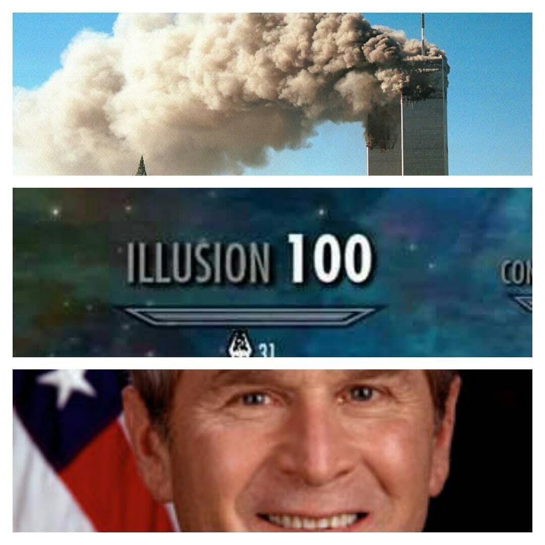 bush did 9/11 skyrim illusion meme