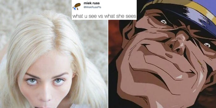 porn memes : what u see vs what she sees