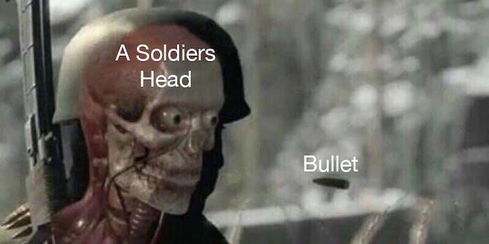 soldier bullet meme