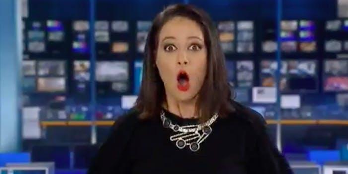 Natasha Exelby daydreaming newscaster