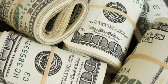 Rolls of $100 US Dollars.