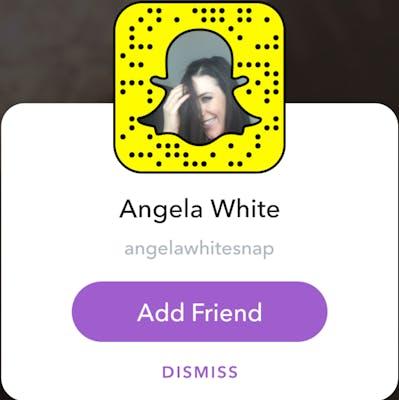 sexy Snapchat girls: Angela White
