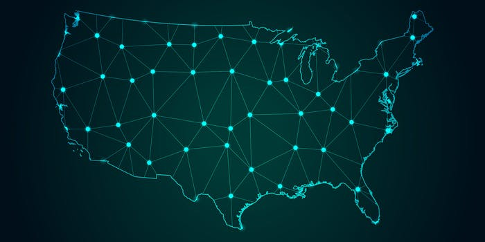 US Map Internet