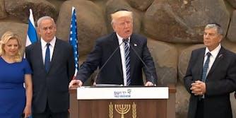 Trump at Yad Vashem