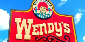 Wendy's fast food sign