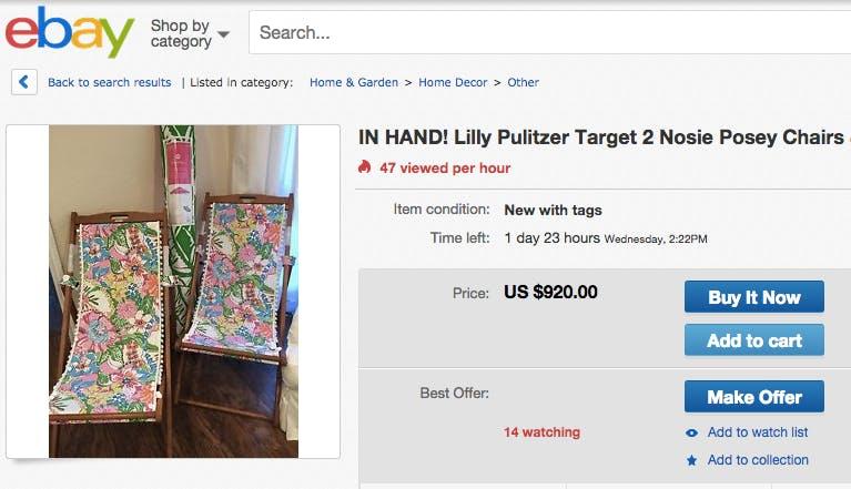 Original price: $60 each