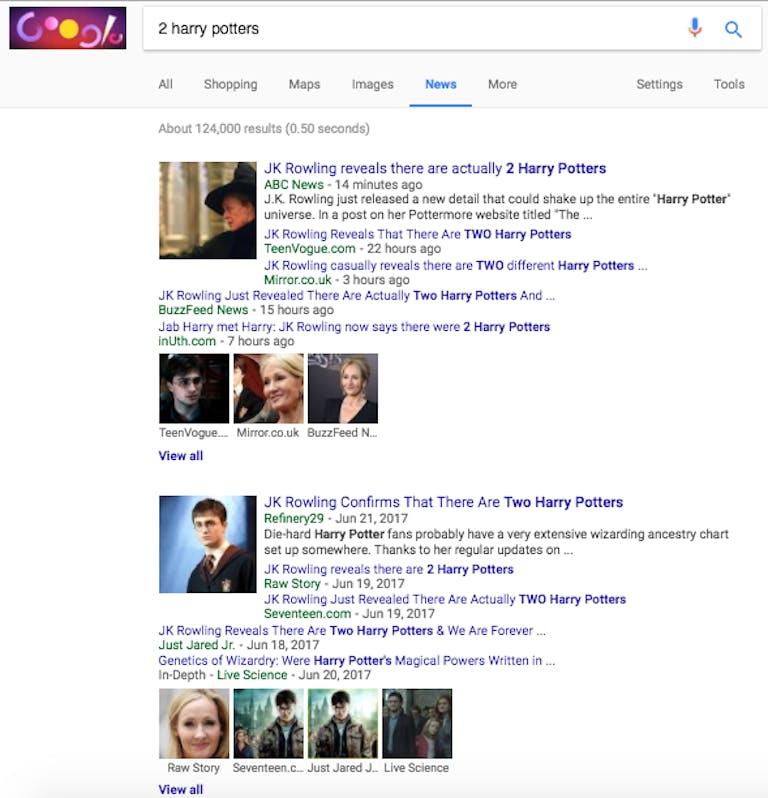 2 harry potters google