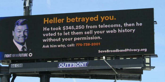non-profit fight for freedom billboard online privacy
