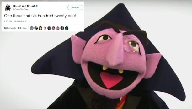 Count von Count Twitter account.