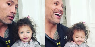 The Rock and his daughter