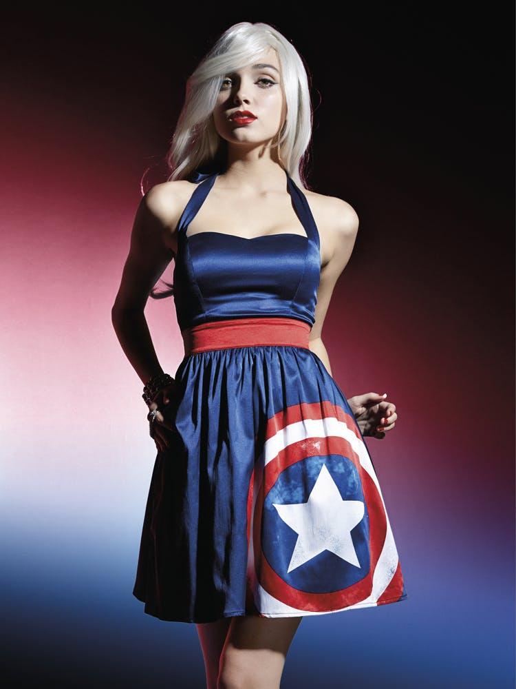 Captain America halter dress