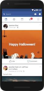 Facebook Halloween text backgrounds