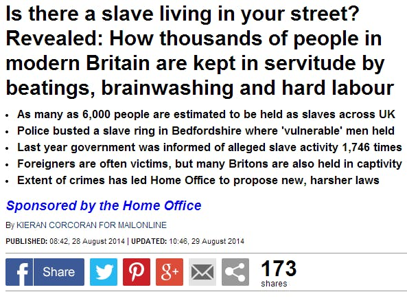 Mail Online government native advertising