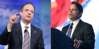 Anthony Scaramucci and Reince Priebus,
