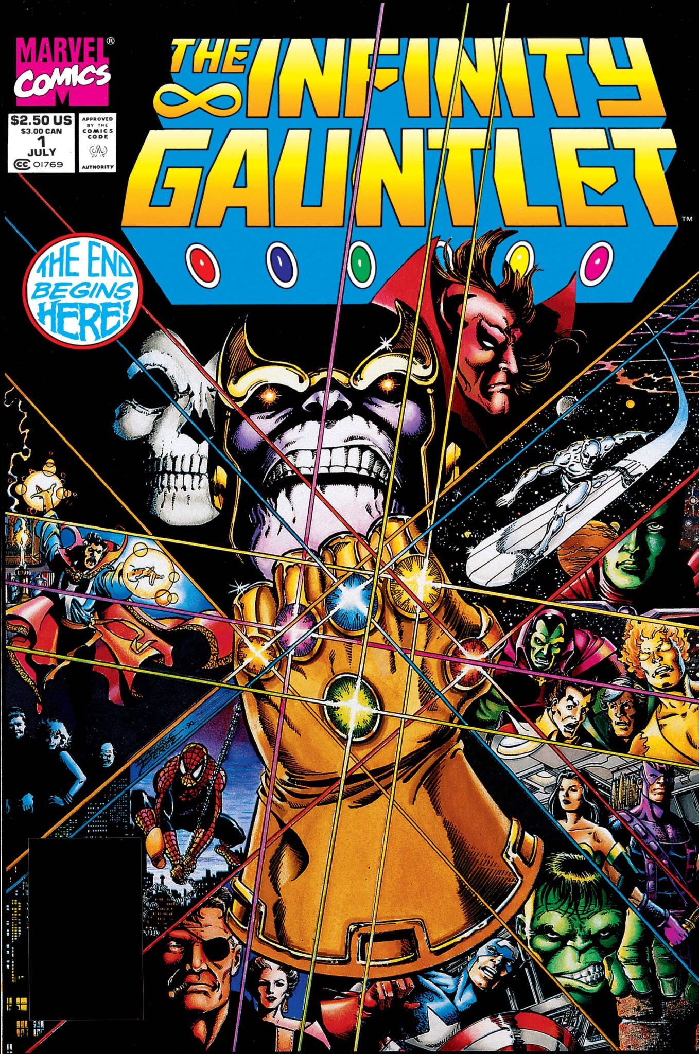 infinity stones : infinity gauntlet comic