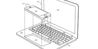 patent iphone docking laptop accessory