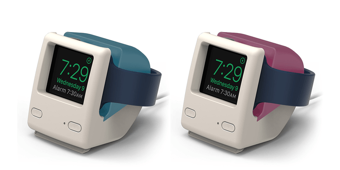 apple watch stand is a retro mac throwback