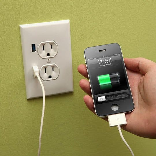 USB charging outlet iPhone