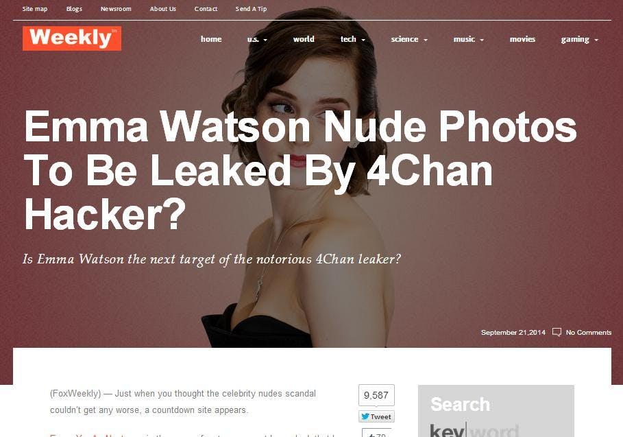 Emma Watson nude photo countdown site