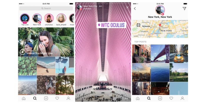 how to clear search on instagram : Instagram Explore section