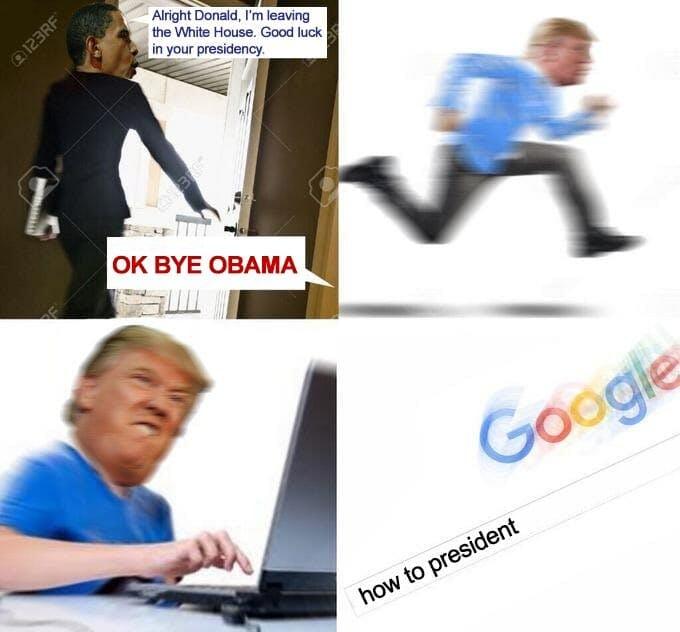 trump okay bye mom meme
