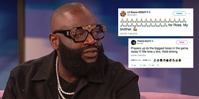 TMZ reported Rick Ross was on 'a form of life support.'