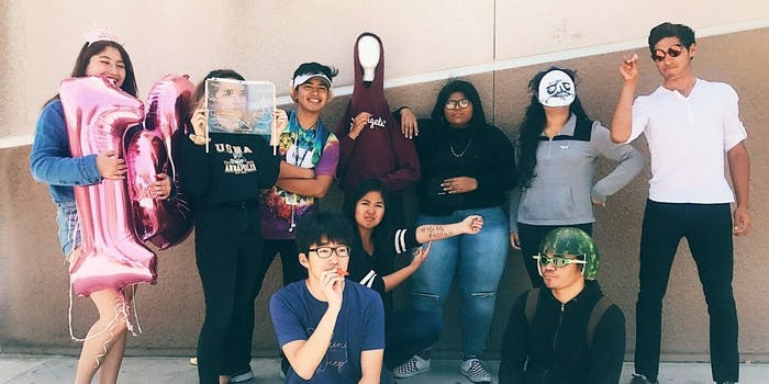 Olympian High School students dress up for Meme Day.