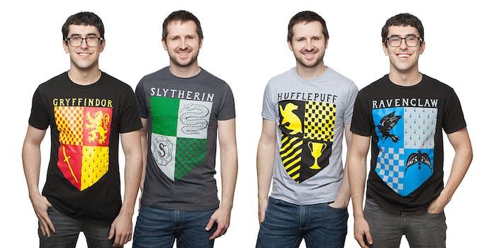 hogwarts house banner shirts