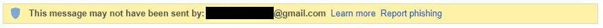 email spoofing attempt