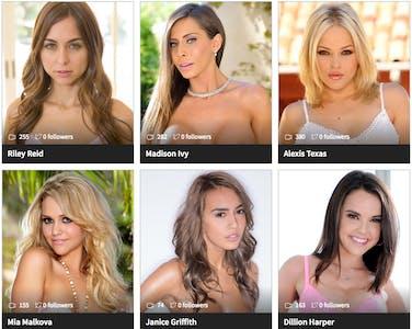 Six different Porntube pornstars