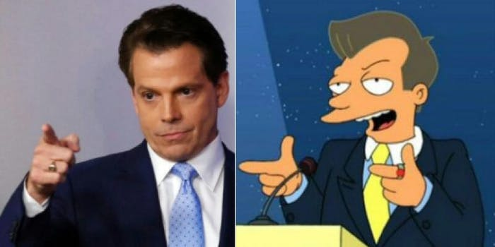 anthony scaramucci as that guy from futurama